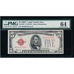 1928C $5 Legal Tender Note PMG64