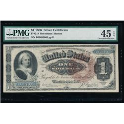 1866 $1 Martha Washington Silver Certificate PMG 45EPQ