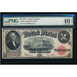 1917 $2 Legal Tender Note PMG 40EPQ