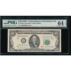 1950C $100 Kansas City Federal Reserve Note PMG 64EPQ