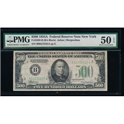 1934A $500 New York Federal Reserve Note PMG 50EPQ