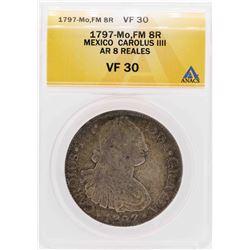 1797-Mo Mexico Carolus IIII 8 Reales Silver Coin