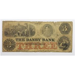 1856 $3 DANBY BANK VERMONT
