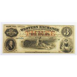 1857 $3 WESTERN EXCHANGE