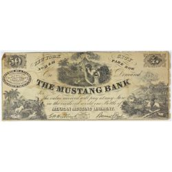 1840'S MUSTANG BANK NEW YORK