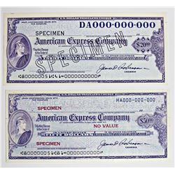 1960'S AMERICAN EXPRESS SPECIMEN PROOF