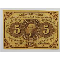 WASHINGTON FIVE CENT FRACTIONAL