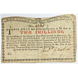1-6-1776 COLONIAL TWO SHILLINGS