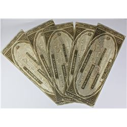 (5) 1808 $1.00 BANK OF WINDSOR, VERMONT