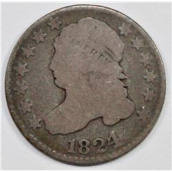 1824/2 BUST DIME