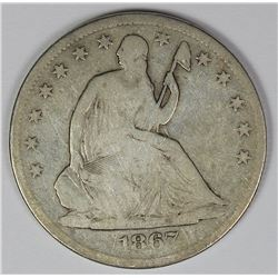 1867-S SEATED HALF DOLLAR