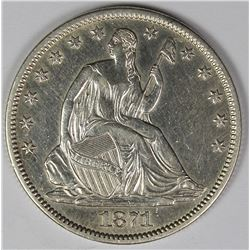 1871-S SEATED HALF DOLLAR