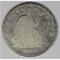 1864-S SEATED HALF DOLLAR
