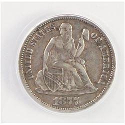 1877-CC SEATED DIME