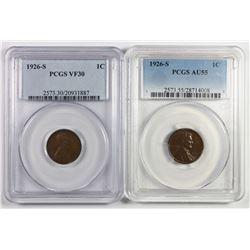 (2) 1926-S LINCOLN CENTS