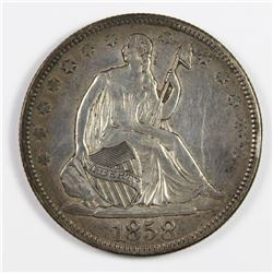 1858 SEATED HALF DOLLAR