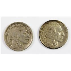 1925 AND 1925 D BUFFALO NICKELS