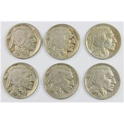 (6) BUFFALO NICKELS