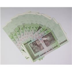 10 PCS. 50 TRILLION DOLLAR ZIMBAWE NOTES