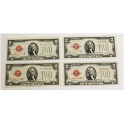 (3) 1928-G AND (1) 1928-F U.S. NOTES
