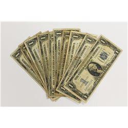10 PIECE 1934 $1.00 SILVER CERTIFICATES