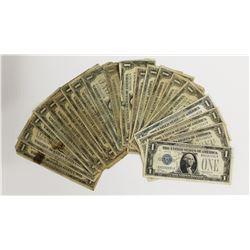 20 PIECES LOW GRADE $1.00 1928 SILVER CERTS