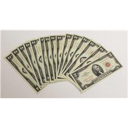 (15) 1963 $2.00 U.S. NOTES