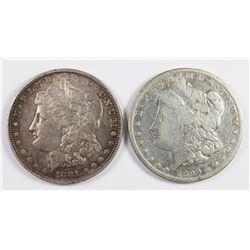 1899-S AND 1881-O MORGAN SILVER DOLLARS