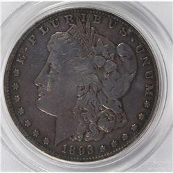 1893-S MORGAN SILVER DOLLAR
