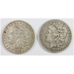 1894-O AND 1892-O MORGAN SILVER DOLLARS