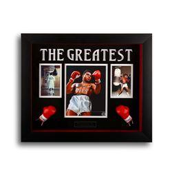 Muhammad Ali Custom Shadowbox 20x16 signed GFA
