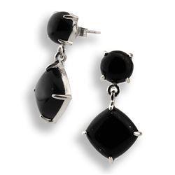 Sterling Silver Colorado Black Moon Drop Earrings