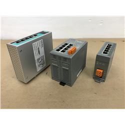 (3) Moxa EDS-G205-T & ICP DAS NS-208 / NS-205 Ethernet switches