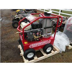 EZ Kleen Magnum Gold 4000 psi, 12 volt hot water pressure washer, gas motor, electric start, NEW
