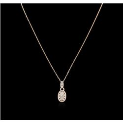1.24 ctw Diamond Pendant With Chain - 14KT Rose Gold