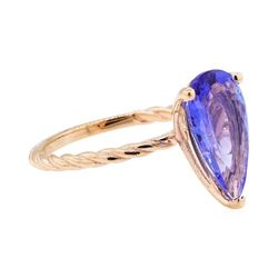 2.67 ctw Tanzanite Ring - 14KT Rose Gold