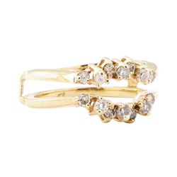 0.50 ctw Diamond Ring Guard - 14KT Yellow Gold