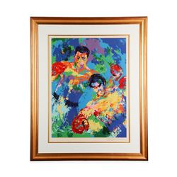 """""""Ali vs. Foreman Zaire '74"""""""" by LeRoy Neiman - Limited Edition Serigraph"""
