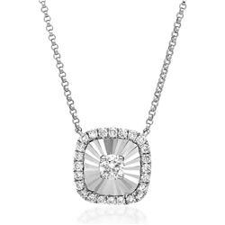 18k Gold 0.14CTW Diamond Necklace, (SI2/H)