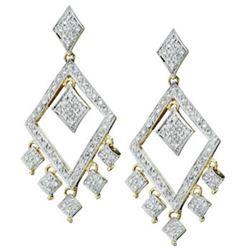 14k Yellow Gold 1.00CTW Diamond Earrings, (I1-I2/H-I)
