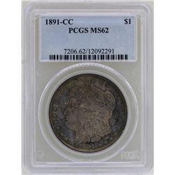 1891-CC $1 Morgan Silver Dollar Coin PCGS MS62