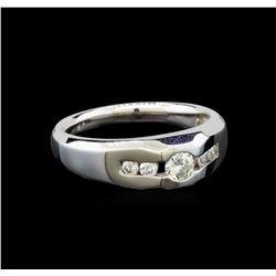 14KT White Gold 0.55 ctw Diamond Ring