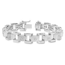 14K White Gold 1.15CTW Diamond Bracelet, (SI3/F-G)