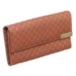 Gucci Mauve Microguccissima Leather Long Wallet