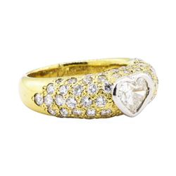 2.10 ctw Diamond Ring - Platinum and 18KT Yellow Gold