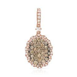 14k Rose Gold 0.73CTW Diamond and Brown Diamonds Pendant, (SI/H)