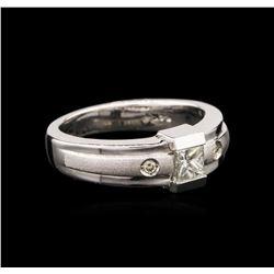 14KT White Gold 0.31 ctw Diamond Ring