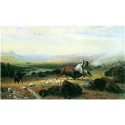The Last Buffalo by Albert Bierstadt