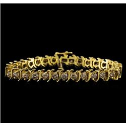 4.85 ctw Diamond Bracelet - 14KT Yellow Gold