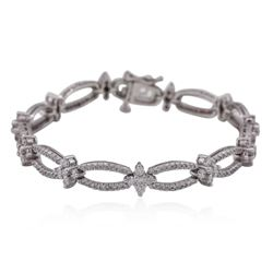 14KT White Gold 3.09 ctw Diamond Bracelet